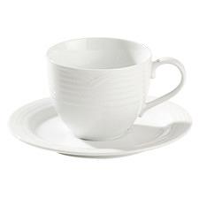 Arctic White Porcelain Espresso Cup & Saucer Set (Set of 4)