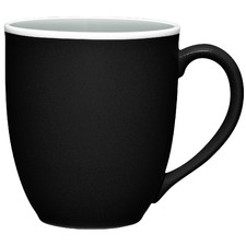 ColorTrio Graphite 355ml Coupe Mugs (Set of 4)