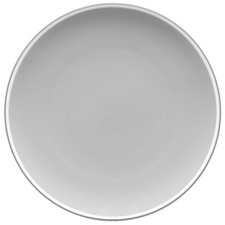 ColorTrio Slate 21cm Porcelain Coupe Entrée Plates (Set of 4)