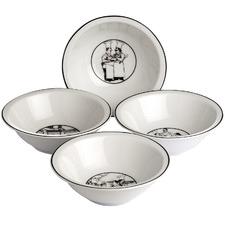 4 Piece Le Restaurant 16m Porcelain Cereal Bowl Set