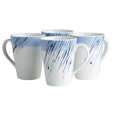 Hanabi 350ml Porcelain Mugs (Set of 4)