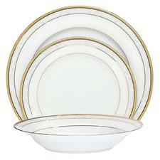 12 Piece Noritake Gold Hampshire Porcelain Dinnerware Set