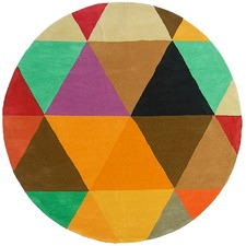 Macey Kaleidoscope Dan 300 Indoor Outdoor Round Rug