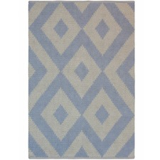 Peverell Blue Diamonds Wool Rug