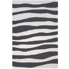 Black Waves Modern Rug