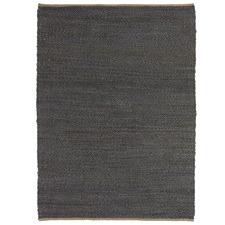 Charcoal Deluxe Jute Rug