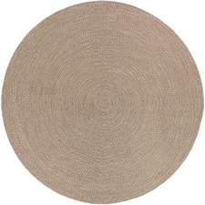 Beige Seasons Stripes Round Outdoor Rug