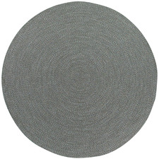 Grey Seasons Stripes Round Outdoor Rug