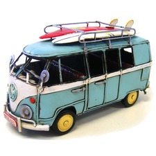 Kombi Van with Surfboards in Blue