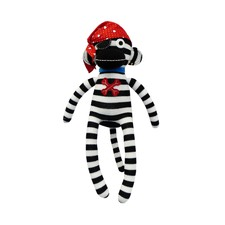 Sockie Monkey Pirate Pete Plush Toy
