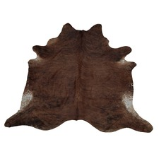 Burnt Umber Exotic Cow Hide Rug