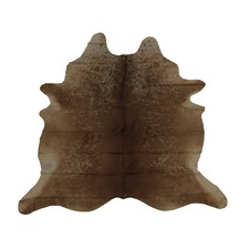 Brown & Light Silver Genuine Cow Hide Rug