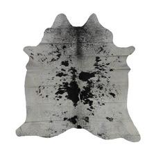 Black Spotted Grey Genuine Cow Hide Rug