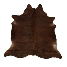 Dark Pecan Genuine Cow Hide Rug