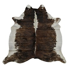 Umber & White Genuine Cow Hide Rug