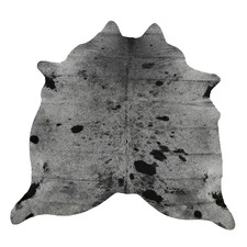 Black & Grey Spotted Genuine Cow Hide Rug