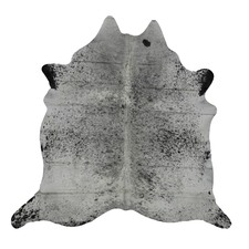 Pewter & Black Genuine Cow Hide Rug