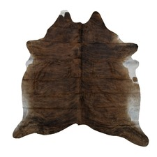 Pecan & White Genuine Cow Hide Rug
