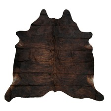 Dark Ochre Genuine Cow Hide Rug