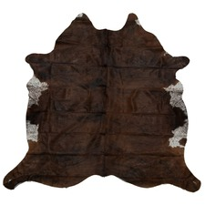 Chocolate Brown Genuine Cow Hide Rug