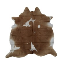 Tawny & White Genuine Cow Hide Rug