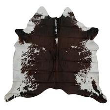 Umber Spotted Genuine Cow Hide Rug