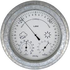 22cm Leni Galvanised Outdoor Barometer