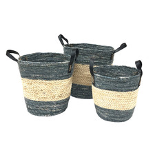 3 Piece Straight Side Corn Basket Set