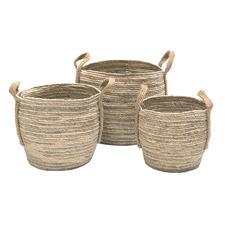 3 Piece Bulbous Side Corn Basket Set