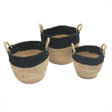 3 Piece Tapered Top Corn Basket Set