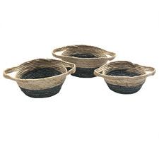 3 Piece Flat Base Corn Basket Set