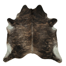 Spotted Sandy Brown Exotic Cow Hide Rug