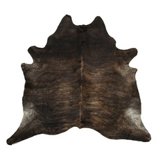 Blackish Dark Brown Exotic Cow Hide Rug