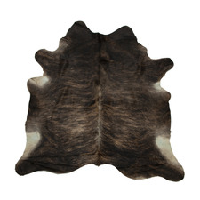 Assorted Dark Brown Exotic Cow Hide Rug