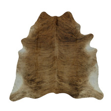 Light Brown & Beige with White Exotic Cow Hide Rug