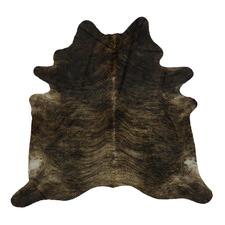 Black & Khaki Exotic Cow Hide Rug