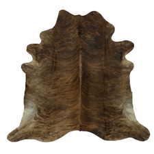 Light Chocolate Brown Exotic Cow Hide Rug