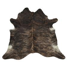 Black & Beaver Brown Exotic Cow Hide Rug