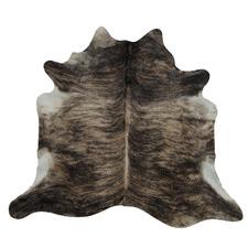 Exotic Black & Brown Cow Hide Rug