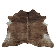 Assorted Light Brown & White Exotic Cow Hide Rug
