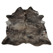 Black & Brown Exotic White Belly Cow Hide Rug