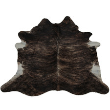 Blackish Brown & White Belly Cow Hide Rug