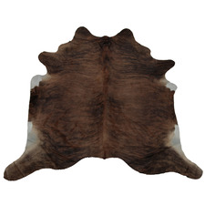 Dark Brown Exotic Cow Hide Rug