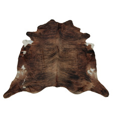 Blackish Brown & White Exotic Cow Hide Rug