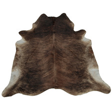 Blackish Brown with White Exotic Cow Hide Rug