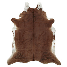 Spotted Chocolate Brown & White Cow Hide Rug