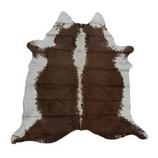 Chocolate Brown with White Spine Cow Hide Rug