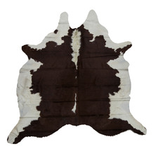 Assorted Dark Brown & White Cow Hide Rug