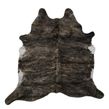 Black & Buff Brown Exotic Cow Hide Rug