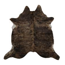 Assorted Dark Brown Cow Hide Rug
